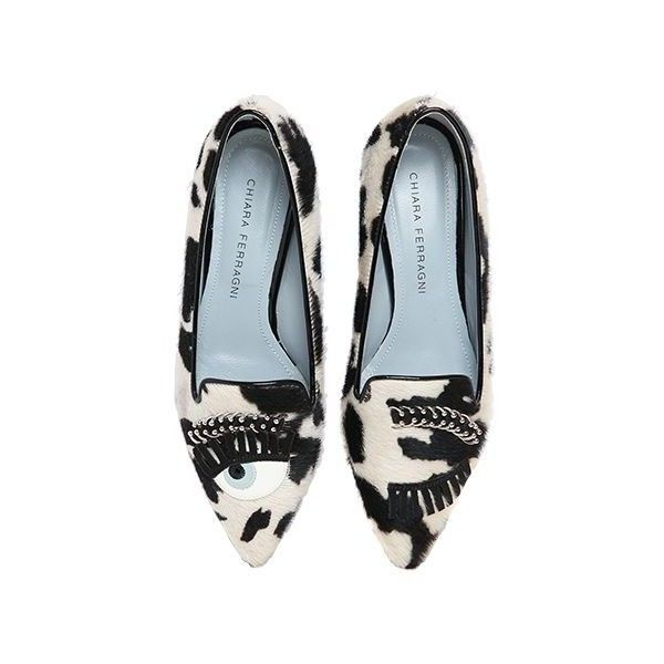 Chiara Ferragni 20MM FLIRTING EYES PONY SKIN LOAFERS Free Shipping Pay With Paypal Free Shipping Real C3aXc