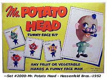 I loved my Mr Potato head. I could only use the potatoes that had little buds growing on them, though....