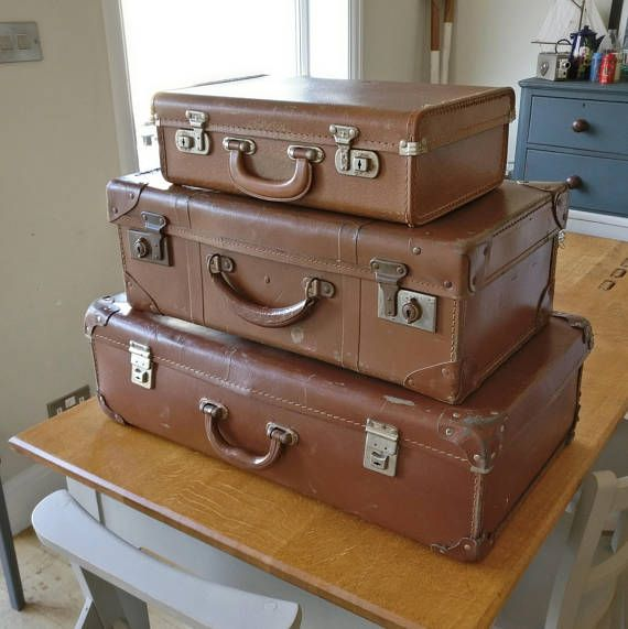 Fresh 3 vintage suitcases vintage case vintage luggage coffee Photo - Modern trunk luggage For Your Plan