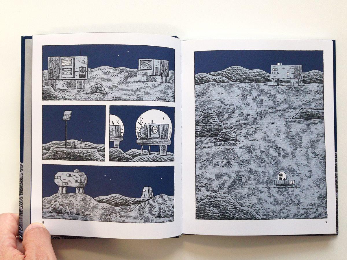 Mooncop (Un Policía en la Luna). Tom Gauld