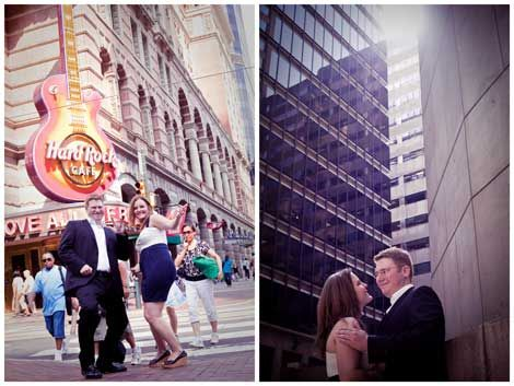 Tracy and Greg's Engagement around Center City featured by Poptastic Bride; www.kateslens.com