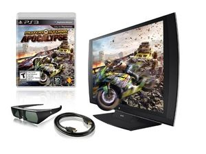 Sony Playstation 24 3d 1080p 240hz Widescreen Led Lcd 3 In 1 Monitor W Simulview Technology 3d Glasses And Motorstorm Laptop Computers Pc Components Lcd