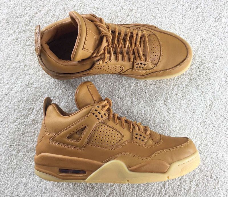 Air Jordan 4 Premium Ginger Wheat Gum Yellow | Sneaker boots