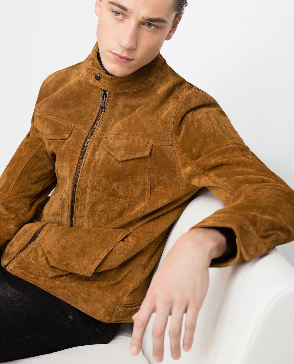 Image 1 of SUEDE JACKET from Zara Leather outerwear, Jackets