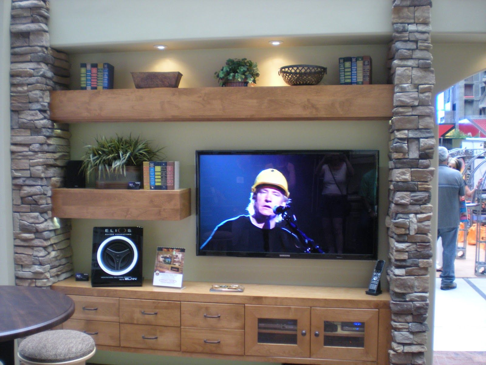 Beautiful Basement Entertainment Center