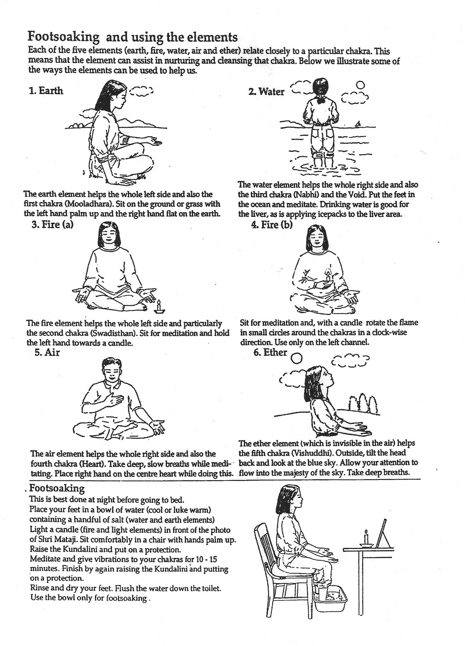 Using The Elements In Meditation Sahaja Yoga Sahaja Yoga Meditation Yoga Meditation