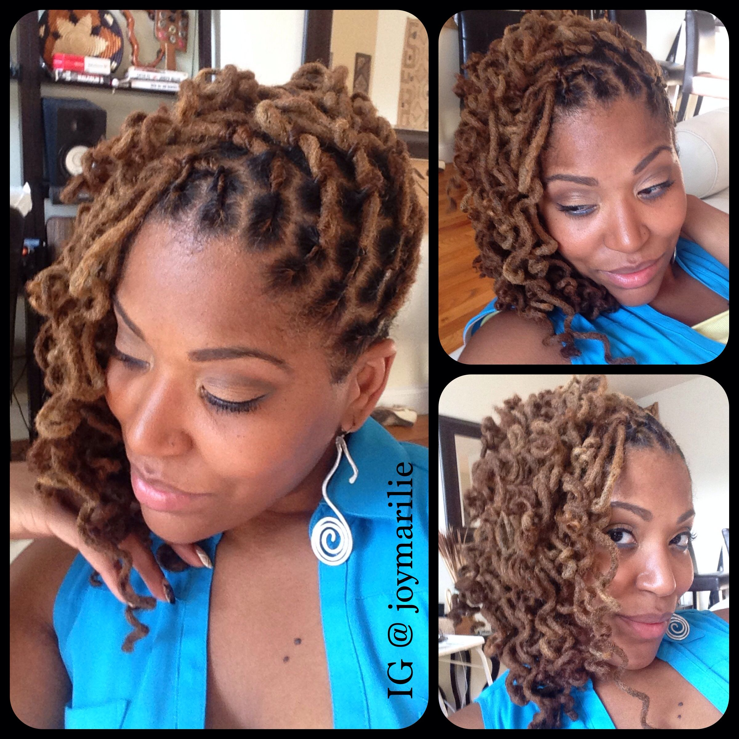 Pin up with loc knot curls