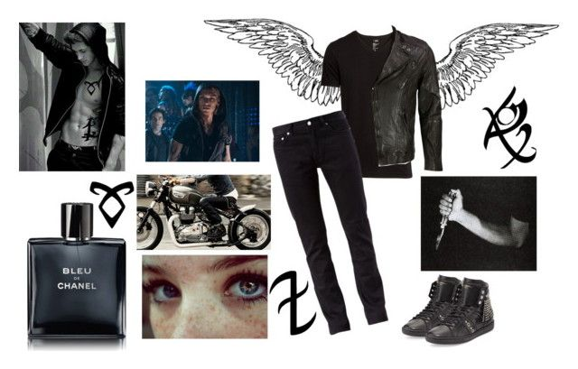 """""""Jace Wayland"""" by alltagskotze ❤ liked on Polyvore featuring H&M, BLK DNM, Yves Saint Laurent, VIPARO and Chanel"""