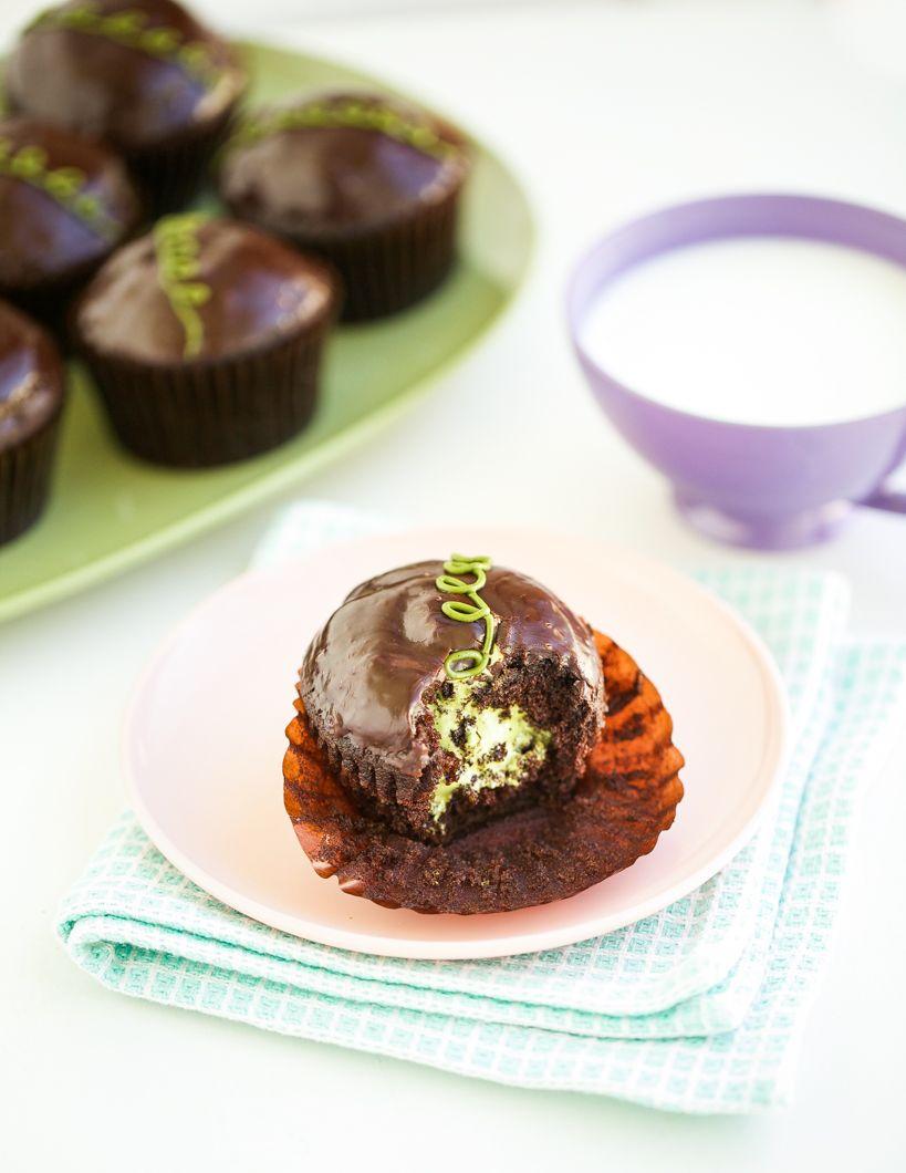 Matcha Hostess Cupcakes