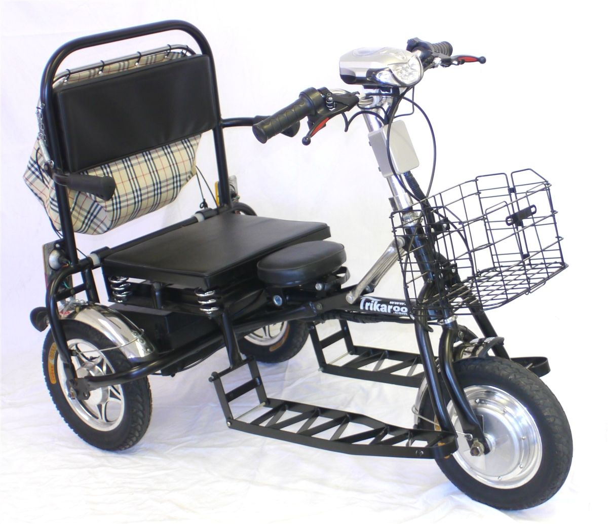 Ada A D Golf Cart Wheelchair Pedicab Pedecab Tandem Mobility Scooter Two Seater Electric Convenience Vehicle