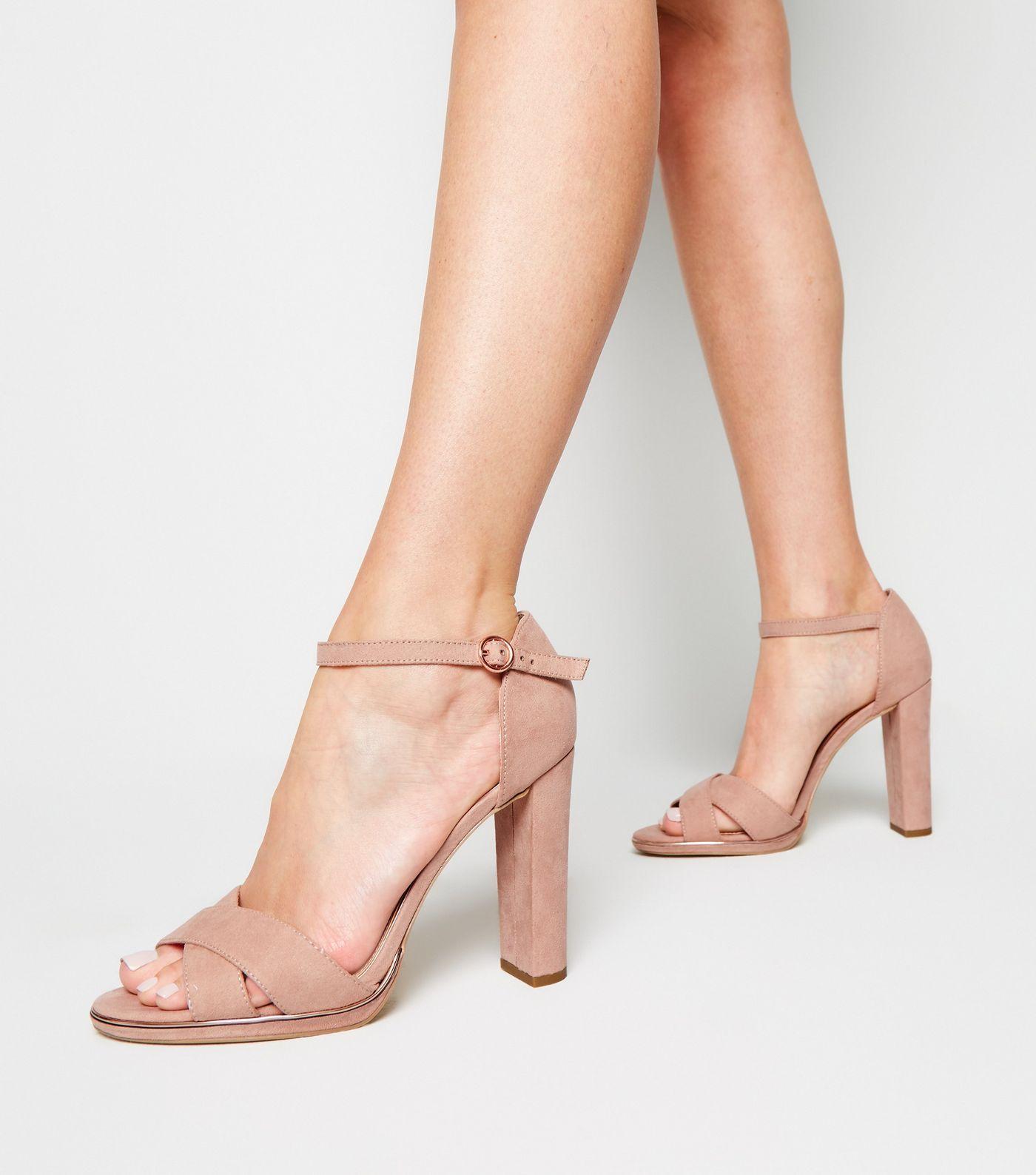 af0a3544d6 Wide Fit Nude Suedette Metal Trim Sandals in 2019   Footware ...