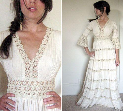 New  Vintage Handmade Mexican Wedding Dress