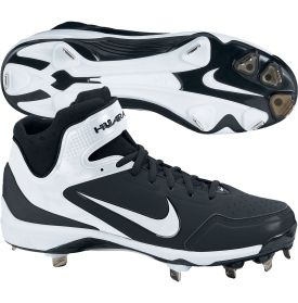 Nike MEN\u0027S AIR Huarache 2K Fresh Metal Baseball Cleats - Size 11.5 Black  White | $65.79
