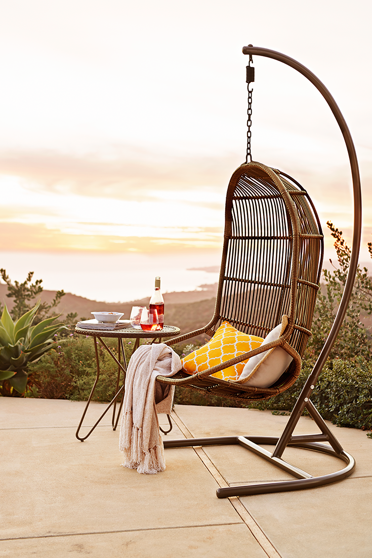Pier One Hanging Chair Toys R Us Chairs Uk We Could Go On And About The Durability Of 1 Swingasan Made Wrought Iron Synthetic Rattan But All Know Key Feature Is That It S