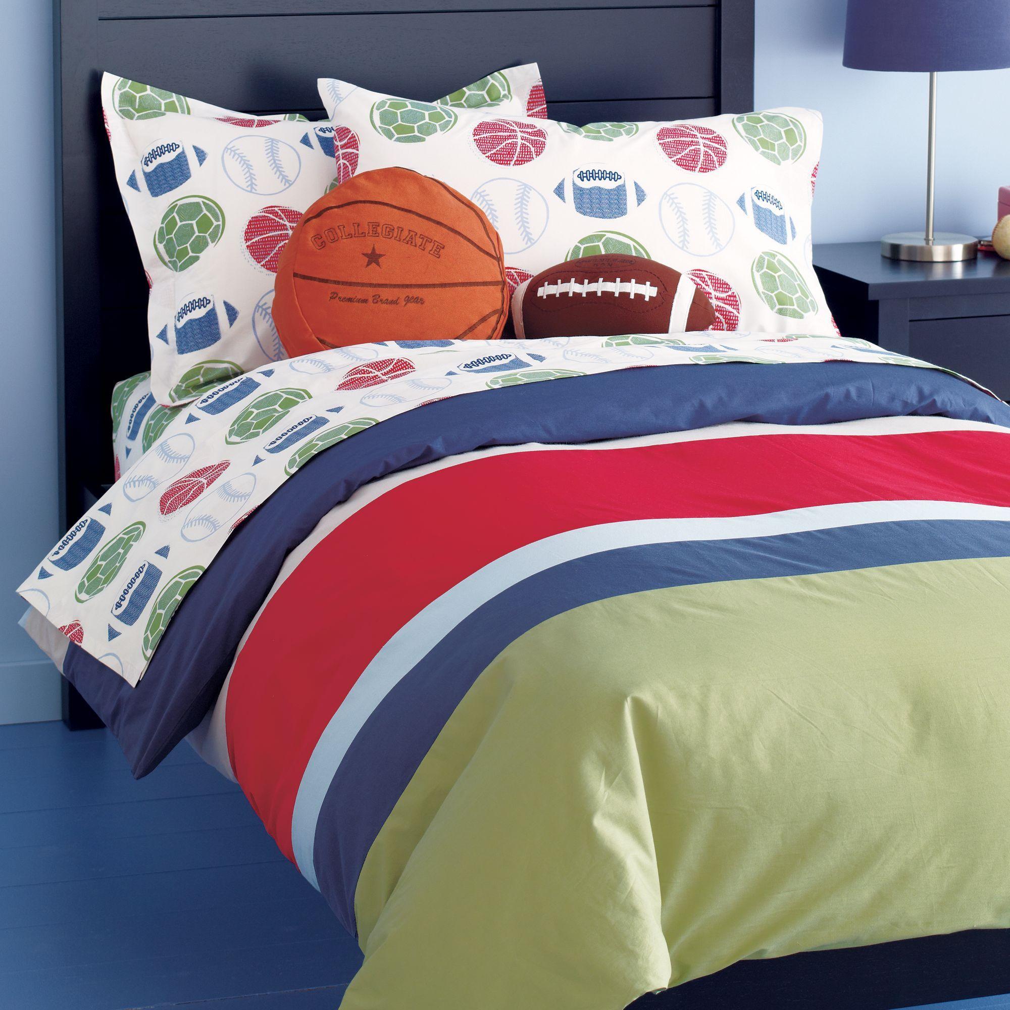 Sports Bedding Set Basketball Football Baseballs and Soccer