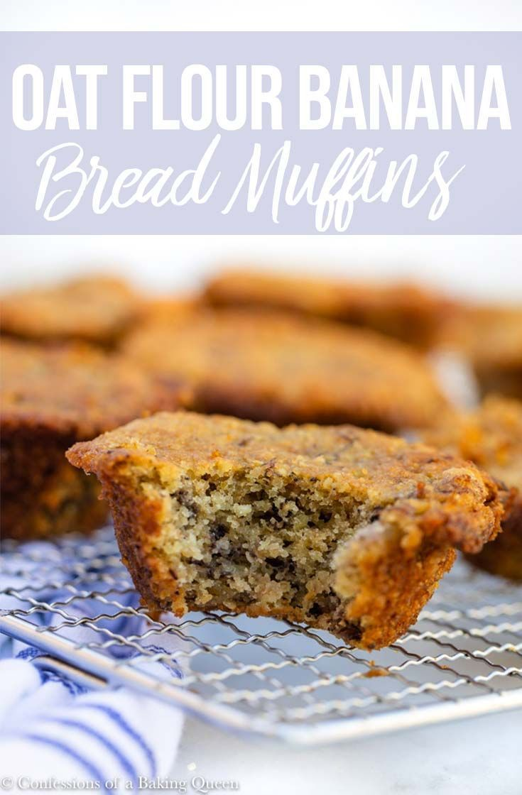 Easy oat flour banana muffins confessions of a baking