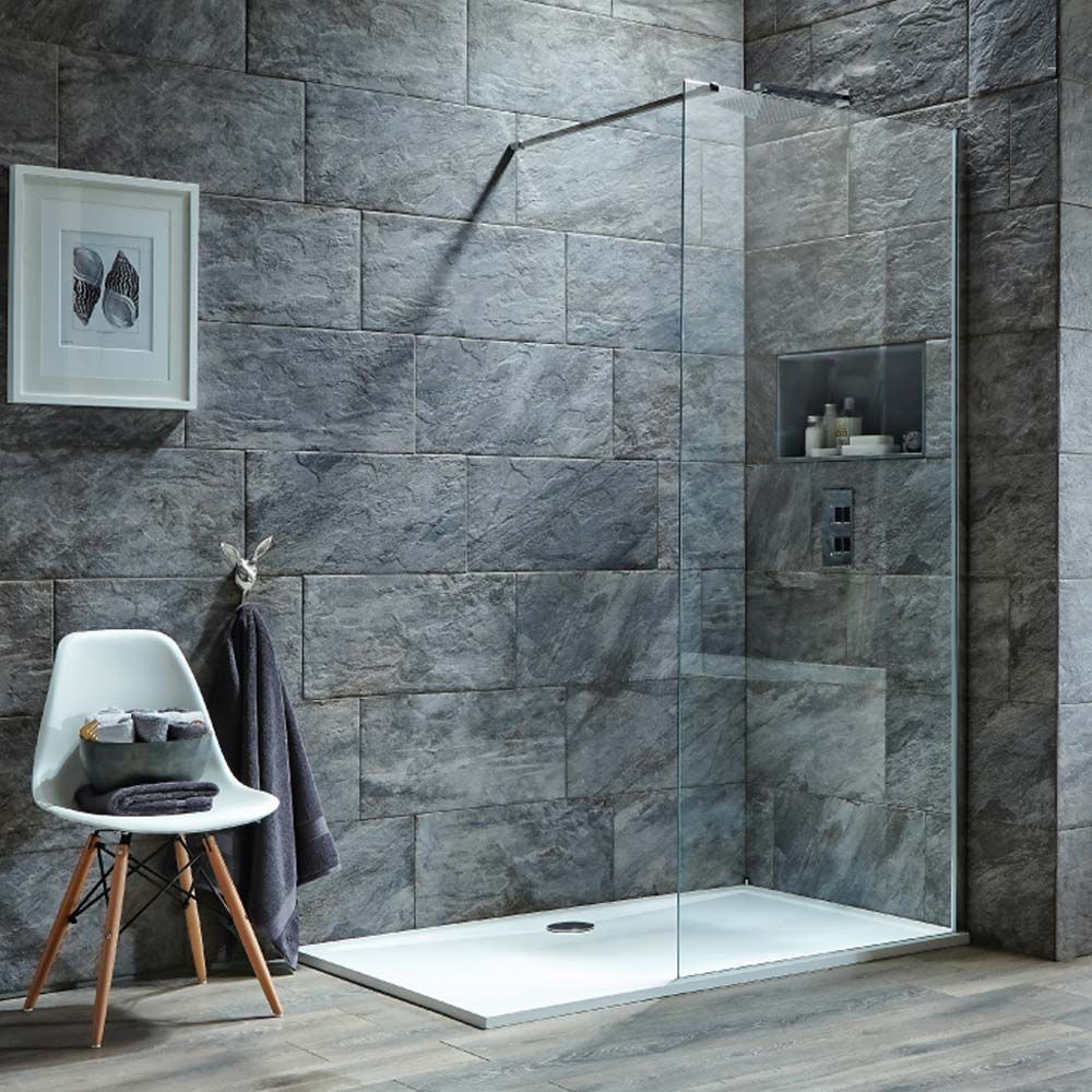 Harbour i8 8mm 2m Tall Easy Clean Glass Panel for Wetrooms ...