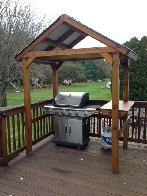 Built Myself A Grill Gazebo My First Construction Project Grill Gazebo Bbq Gazebo Diy Outdoor Kitchen