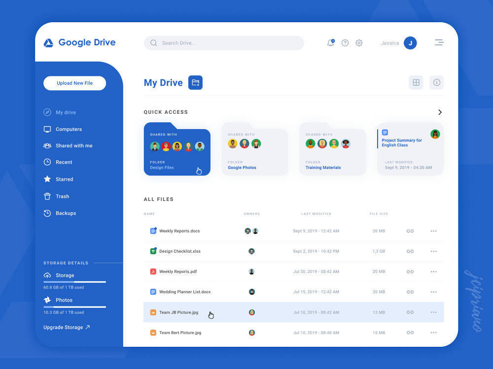 Google Drive New Design Concept #interfacedesign