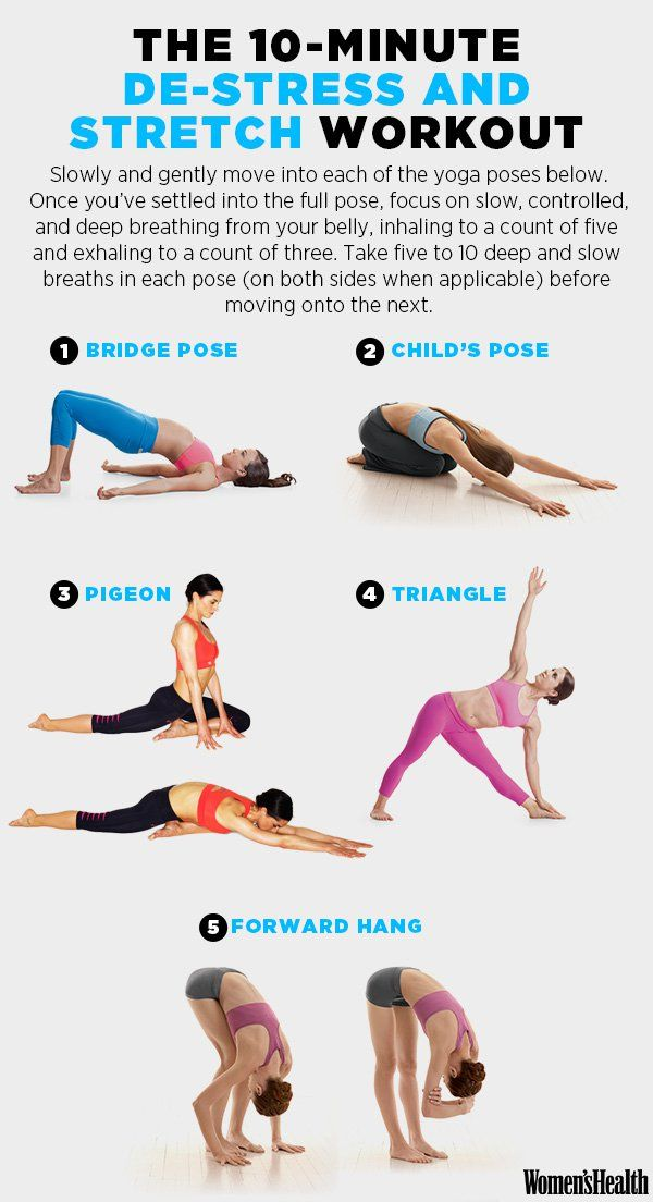 Bridge Pose Womenshealthmag Fitness De Stress Stretch Workoutadbid10152930060491788