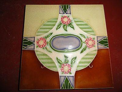 vintage japanese artdeco tile by M S tile works