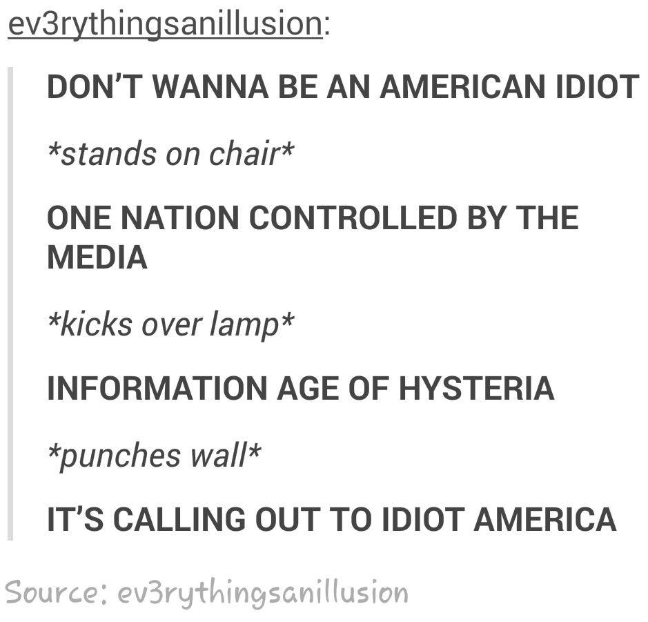american idiot lyrics