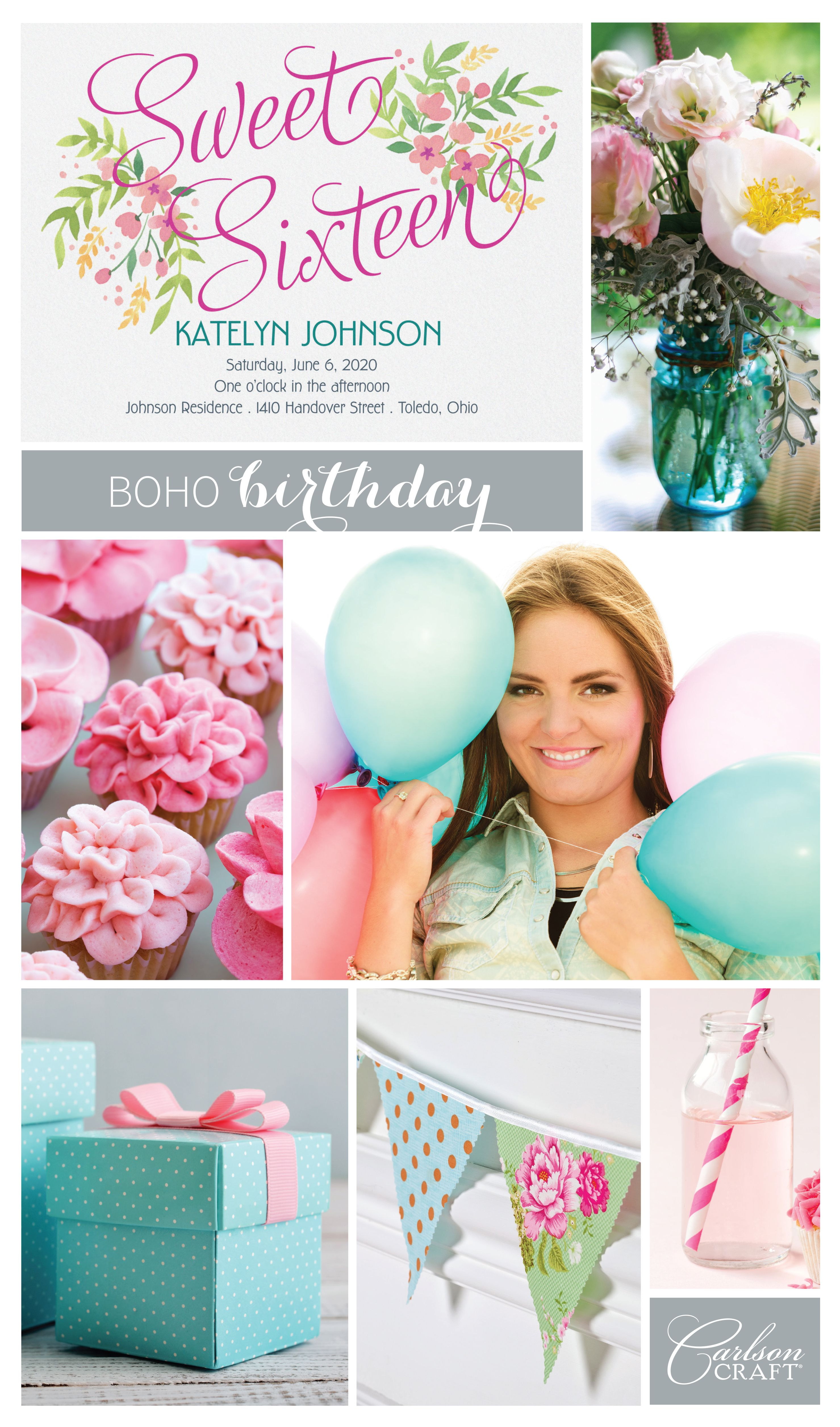 Birthdays Are Something Special To Be Celebrated When You Think Of Boho Probably Pastel Colors Flowers And Colorful Patterns