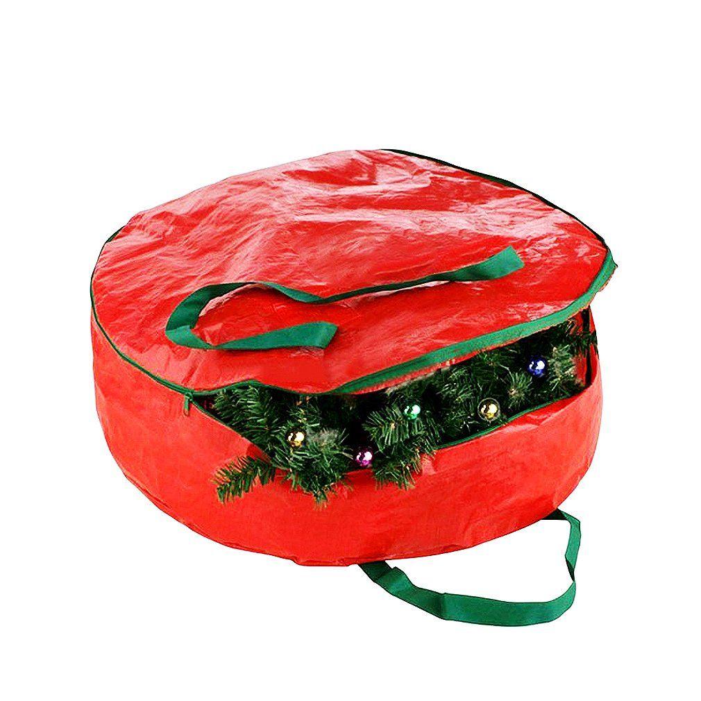 Christmas Wreath Storage Bag Xmas Wreath Container Storage or