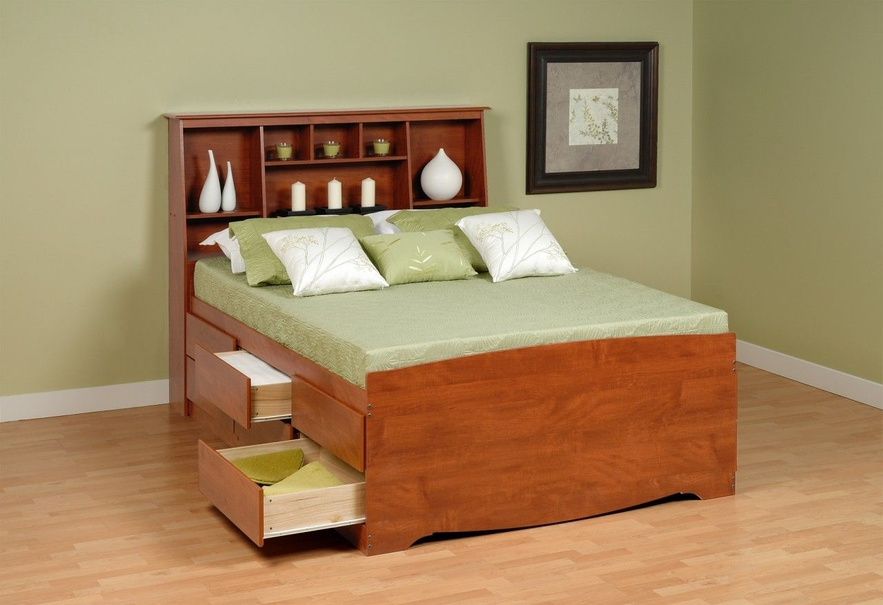 Wooden Small Double Beds With Storage Drawers | //ezserver.us ...