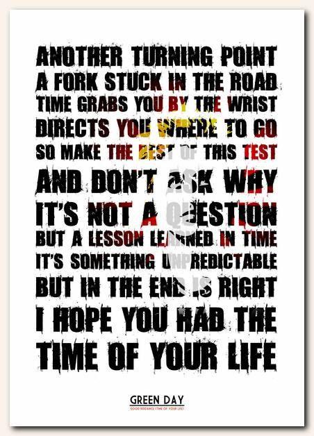 Green Day – Good Riddance (Time of Your Life) Lyrics ...