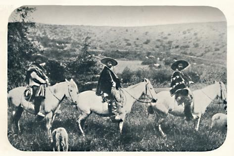 Photographic Print: 'Chillan Cowboys', 1911 : 12x8in