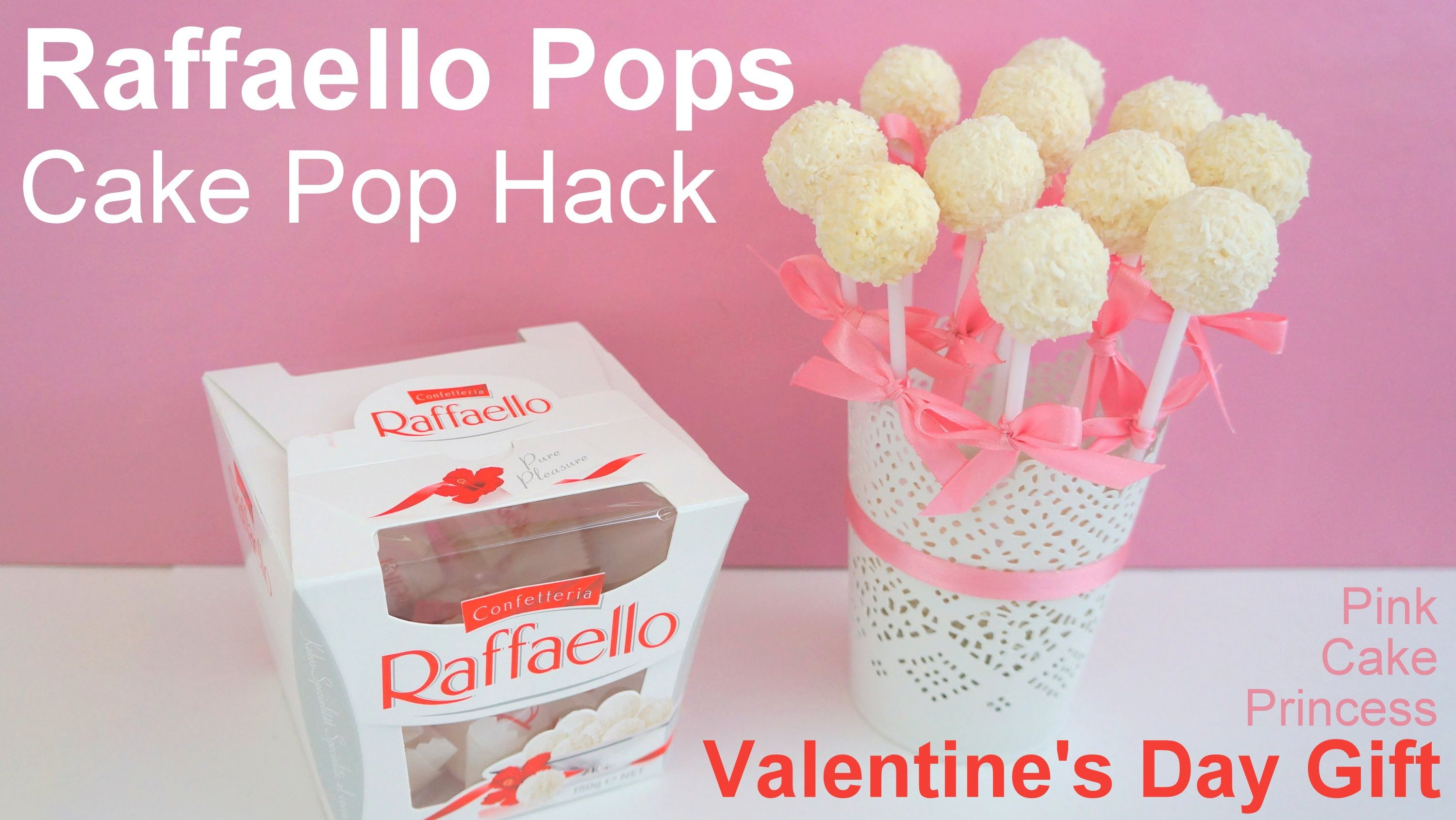 Easy No Bake Cake Pop Hack how to Raffaello Pops Bouquet CAKE