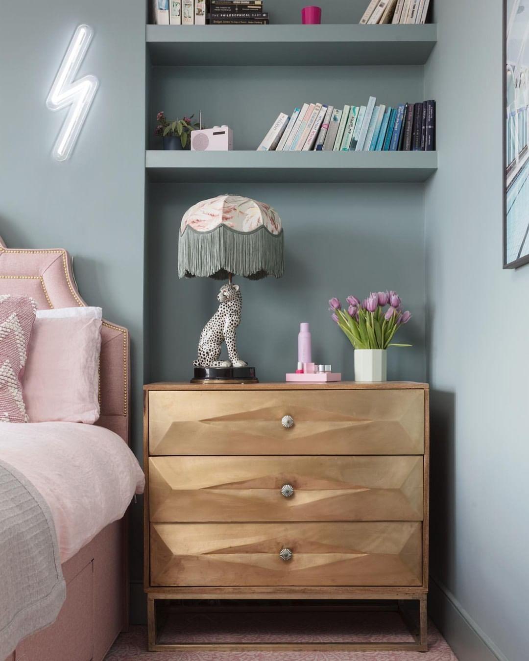 Pink Bedside Table: Large Bedside Tables, Pink