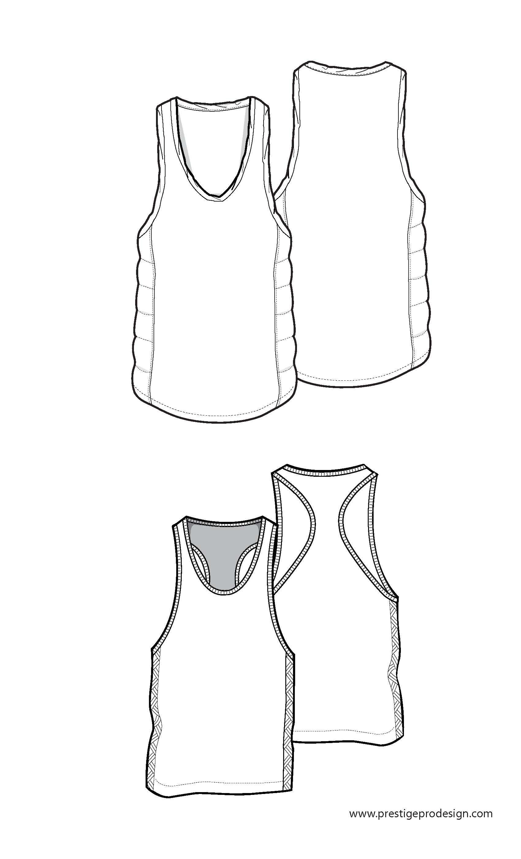 Tank top flats drawing pinterest sketches fashion for Vest top template