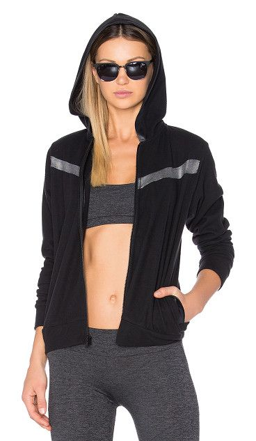 Sport Remy Contrast Zip Up Hoodie by Lanston. 100% poly. Front zipper closure. Attached hood. Contrasting fabric panels. Side welt pockets. LANS-WM19. LSP 104RK. L...