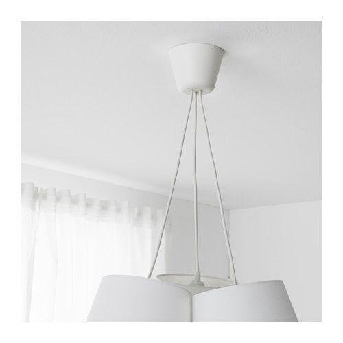 Hemma Set Suspension Triple Blanc 1 8 M Idee Luminaire Ikea Rideaux Suspendus