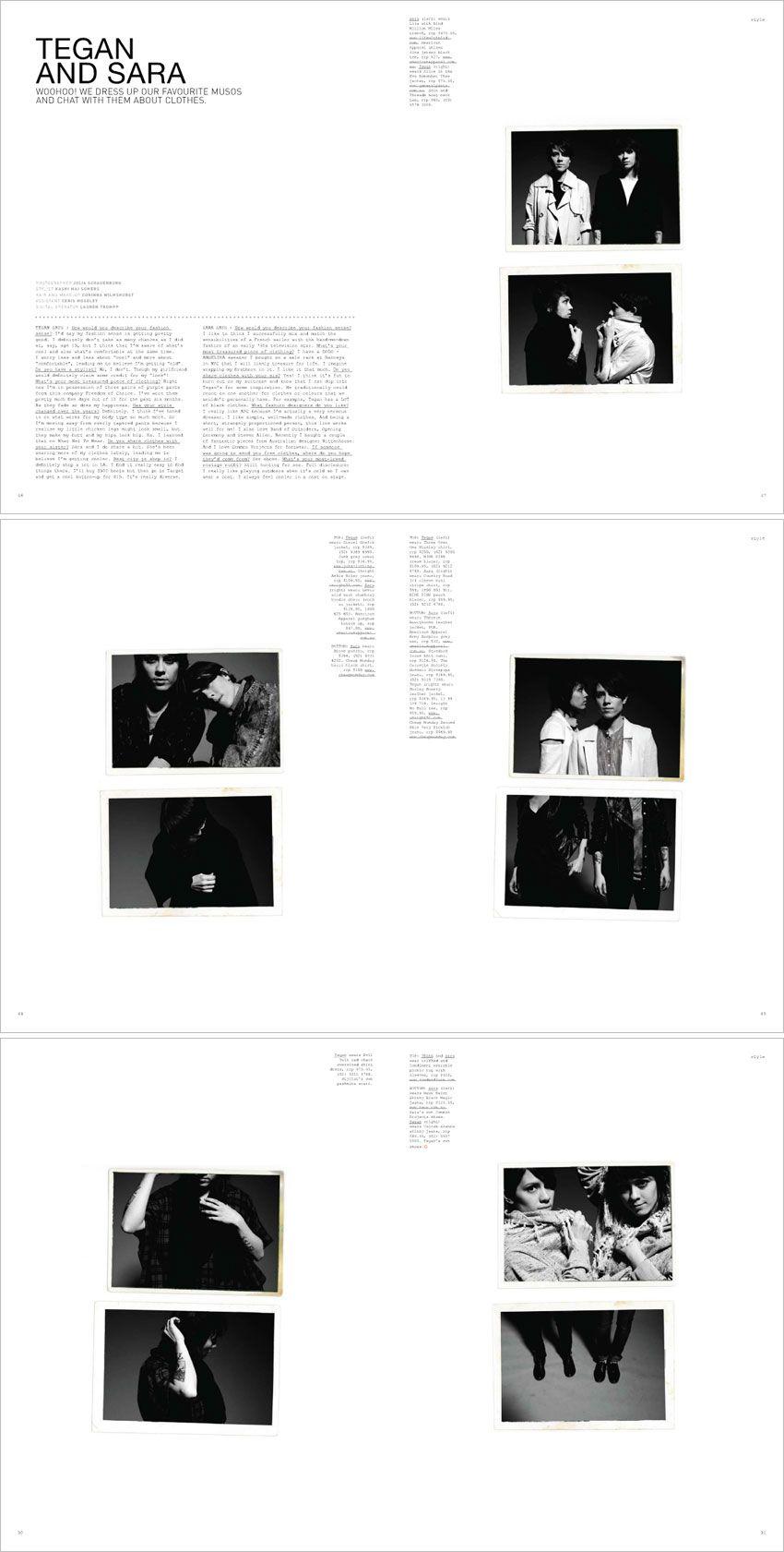 clean, simple magazine layout, raw photo edges