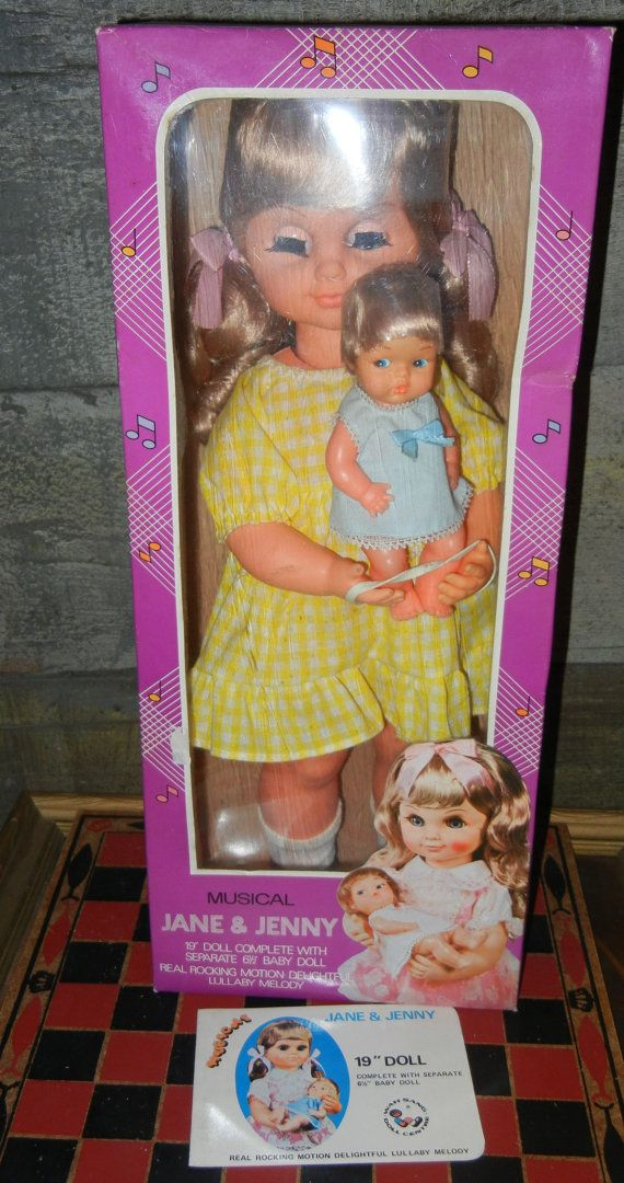 1970's Musical Rocking Jane and Jenny 19 Doll with by
