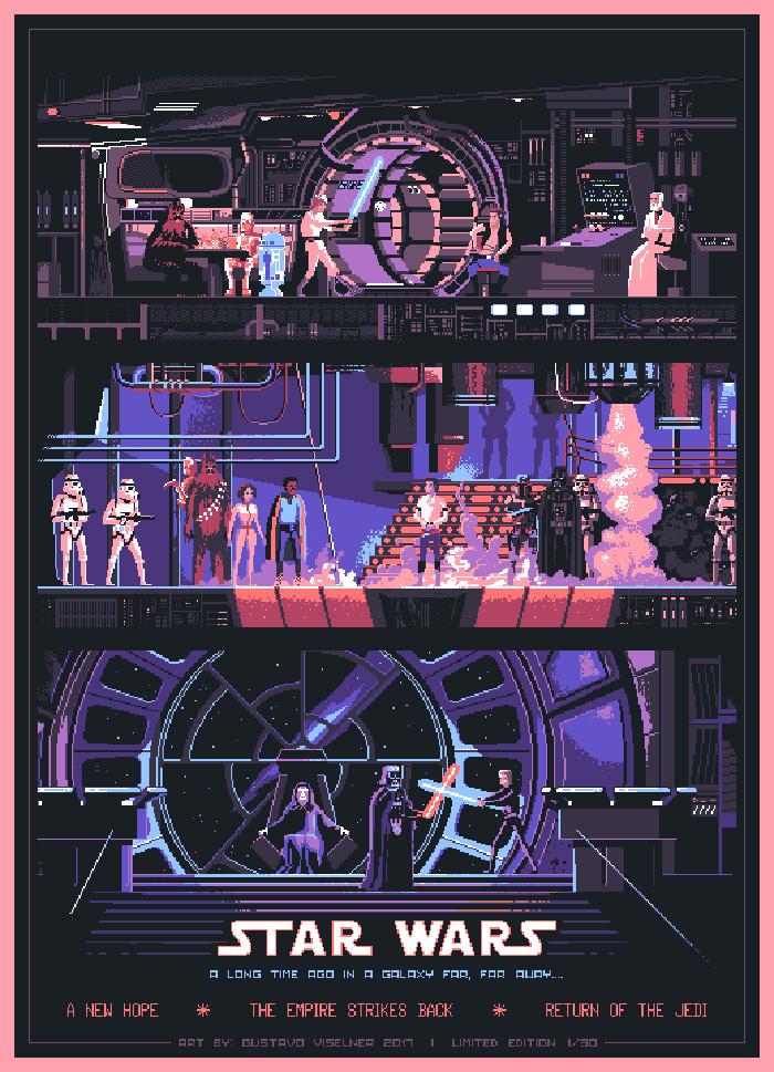 Star Wars Trilogy By Gustavo Viselner Home Of The Alternative Movie Poster Amp In 2020 Star Wars Poster Star Wars Trilogy Alternative Movie Posters