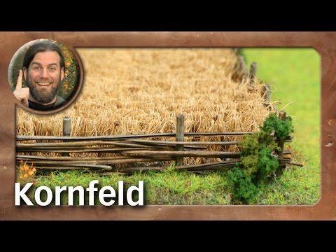 Atelier: Kornfeld / grain field (Tabletop-Gelände, TWS) - YouTube #dioramaideas