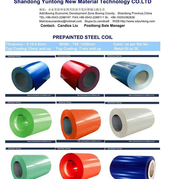 Prepainted Steel Coil Zinc Coating Galvanized Steel Steel