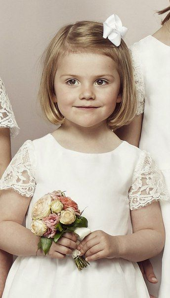 13 June 2015 - Wedding of Prince Carl Philip and Sofia Hellqvist --  Close-up of Princess Estelle from the photo of the flowergirls