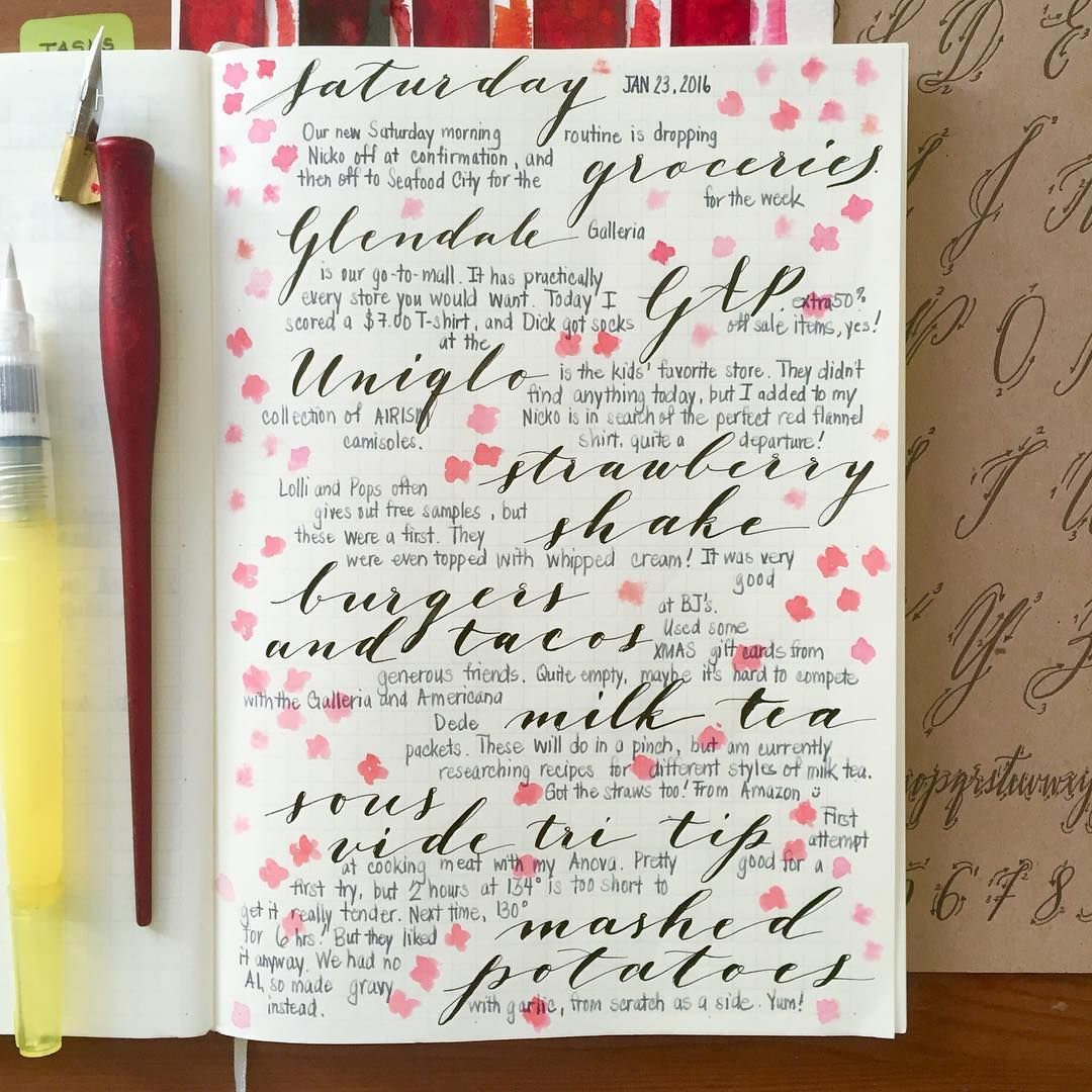 Love Trying New Ideas For Journal Entries Calligraphy
