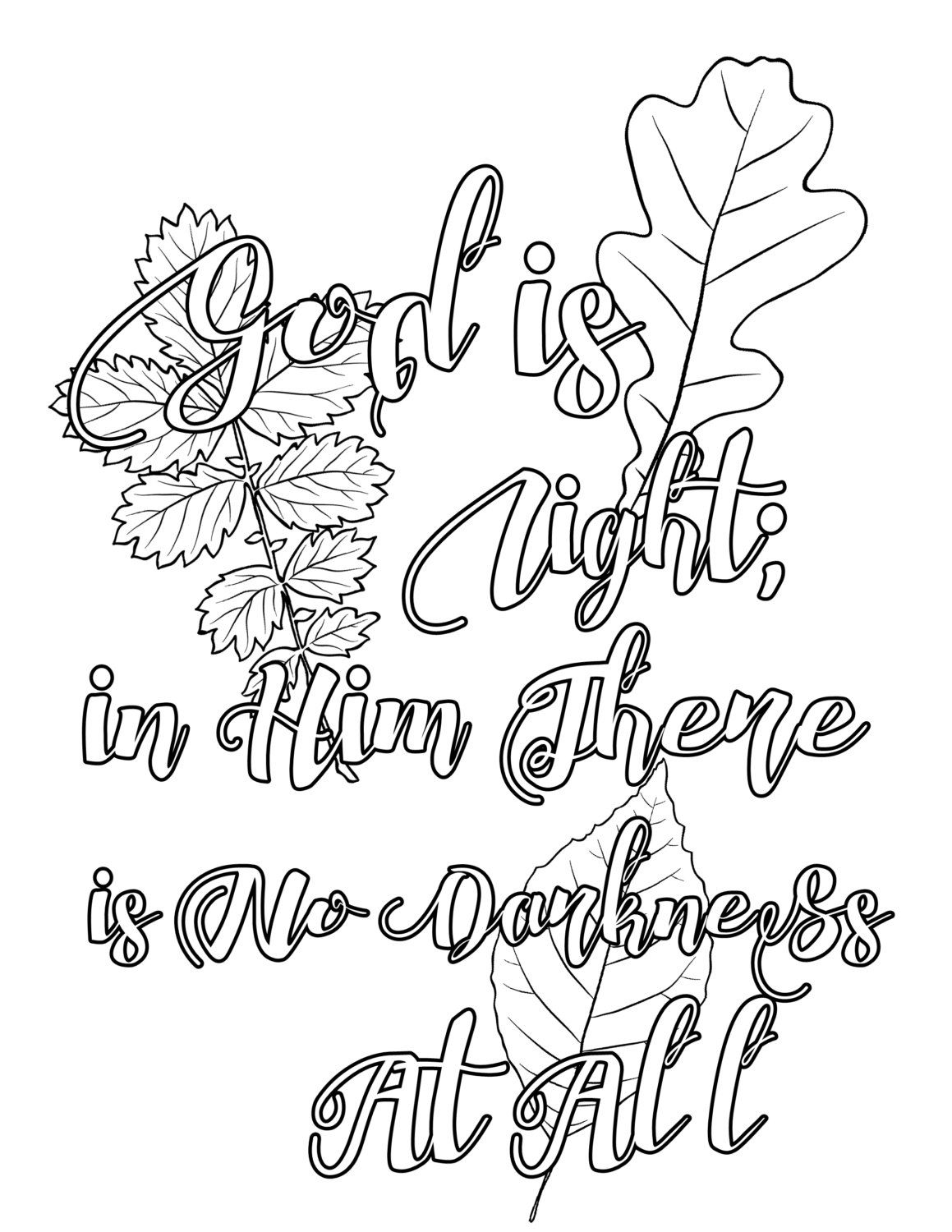 Bible Coloring Page: 14 Bible Quotes Coloring Pages Bundle