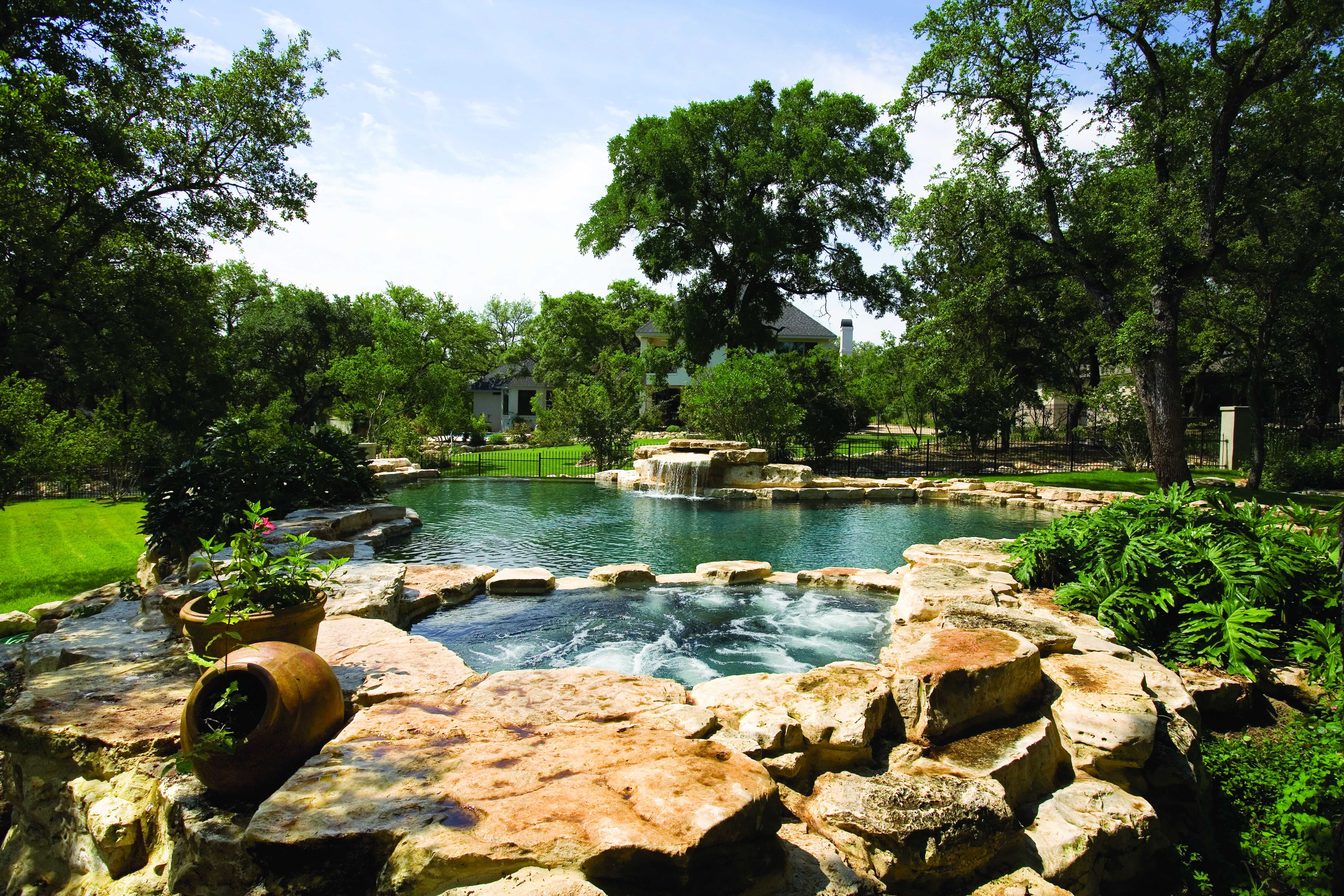 Stunning A Natural Looking Swimming Pool And Spa With A