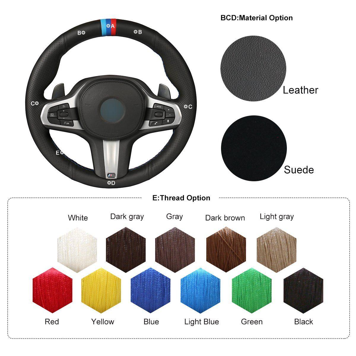 Mewant Customized Diy Hand Sewing Black Genuine Leather Car