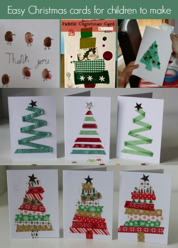 Easy DIY Christmas Card Craft   Card crafts, For kids and Diy ...