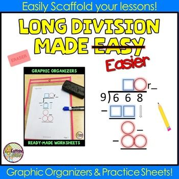 Long Division Worksheets And Organizers Math Pinterest