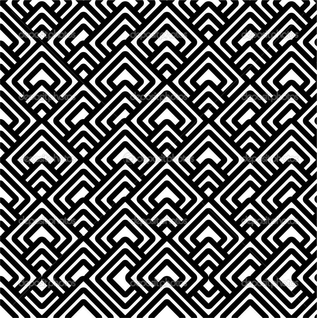 Geometric Patterns | Geometric black & white pattern | Stock Photo © Polina Bobrik ...