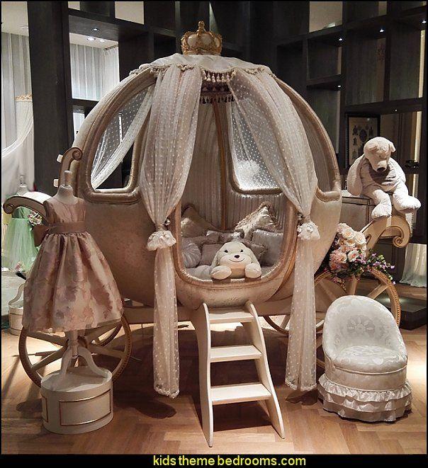 Luxury Fairy Tale Style Pumpkin Shape Theme Bed Princess